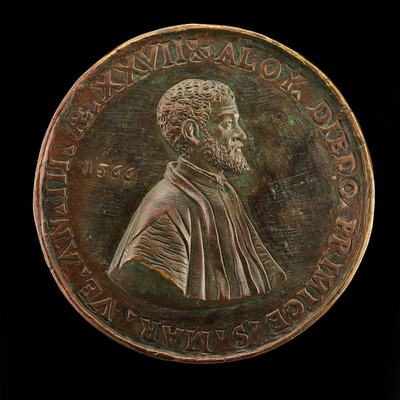 Alvise Diedo, 1539-1603, Scholar and Poet, Primicerius of Saint Mark's 1563 [reverse]