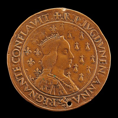 Anne of Brittany, 1477-1514, Wife of Charles VIII 1491 [reverse]