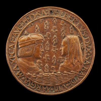Filiberto II le Beau (the Fair), 1480-1504, 8th Duke of Savoy 1497, and Margaret of Austria, 1480-1530, His Wife [obverse]