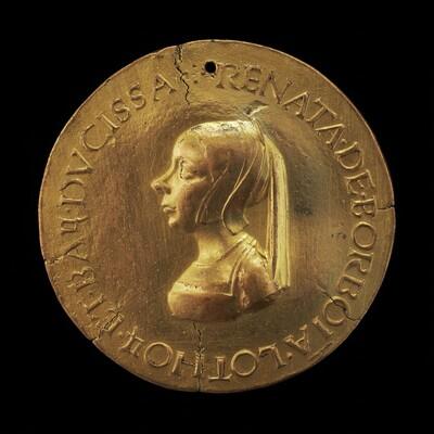 Renée de Bourbon, died 1539, Wife of Antoine, Duke of Lorraine and Bar, 1515 [reverse]