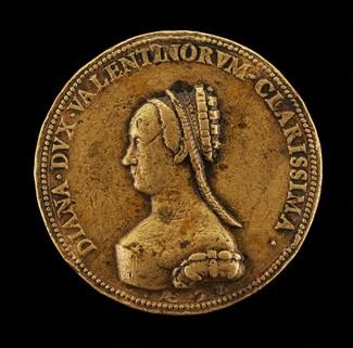 Diane de Poitiers, 1499-1566, Wife of Louis de Breze, Duchess of Valentinois 1548 [obverse]