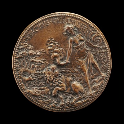 Lion and Fury with Torches [reverse]
