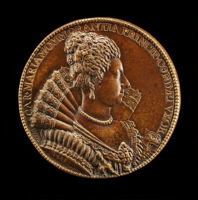 Charlotte-Marie de Montmorency, 1594-1650, Wife of Henri de Bourbon 1609 [reverse]