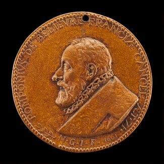 Pomponne de Bellièvre, 1529-1607, Chancellor of France 1599-1605 [obverse]