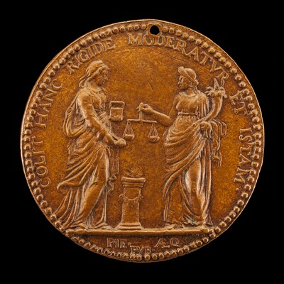 Justice and Piety at an Altar [reverse]