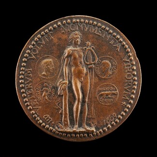 Apollo and Coins of Augustus [reverse]