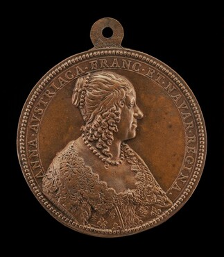 Anne of Austria, 1601-1666, Wife of King Louis XIII of France 1615 [obverse]