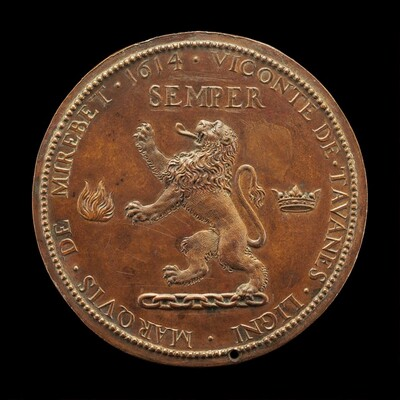 Rampant Lion on a Chain [reverse]
