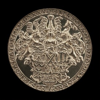 Shield with Helms and Crests [reverse]