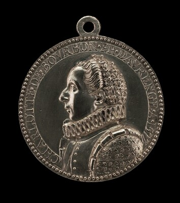 Charlotte de Bourbon, 1548-1581, Third Wife of Willem I, Prince of Orange and Nassau [reverse]