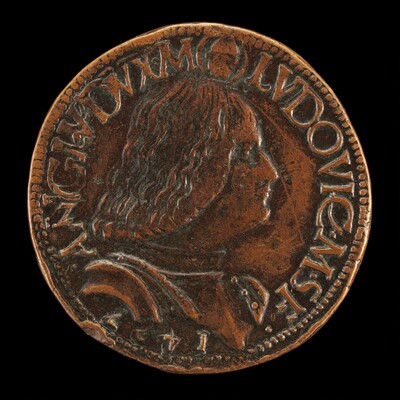 Lodovico Maria Sforza, called il Moro, 1451-1508, 7th Duke of Milan 1494-1500 [obverse]