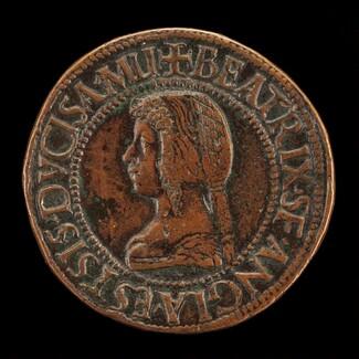 Beatrice d'Este, 1475-1497, Wife of Lodovico Maria Sforza 1491 [reverse]