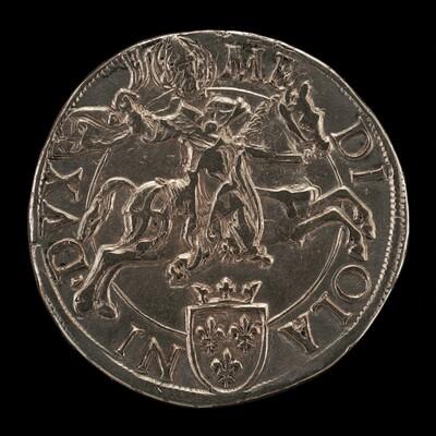 Saint Ambrose on Horseback, Wielding a Scourge [reverse]