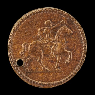 Nude Man on Horseback [reverse]