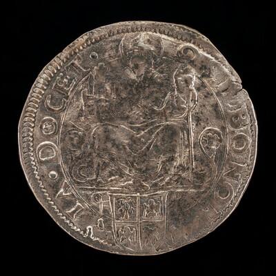 Saint Petronius Enthroned above Arms of Cardinal Alidosi [reverse]