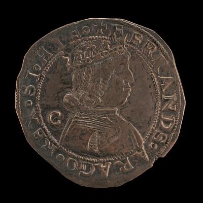 Ferdinand (Ferrante) I of Aragon, 1423-1494, King of Naples 1458 [obverse]