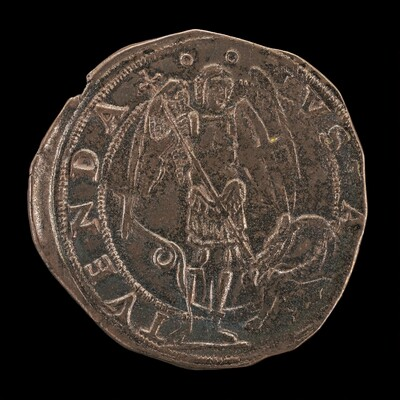 Saint Michael Spearing the Dragon [reverse]