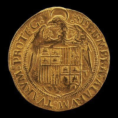 Eagle Displaying Crowned Shield of Aragon and Castile [reverse]
