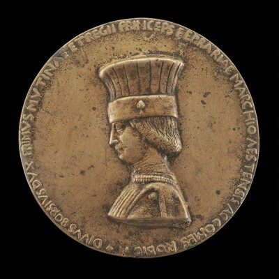 Borso d'Este, 1413-1471, Marquess of Ferrara 1450, Duke of Modena and Reggio 1452, and 1st Duke of Ferrara 1471 [obverse]