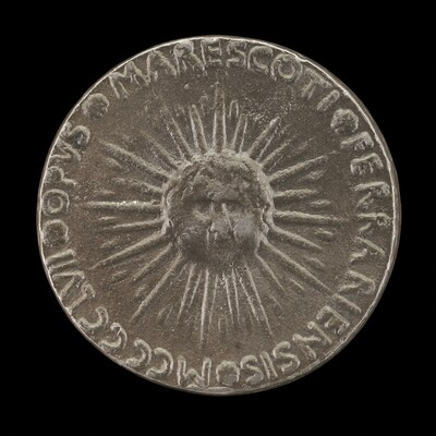 Sunburst with Cherub's Head [reverse]