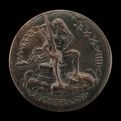 Swordsman Seated on a Plinth [reverse]