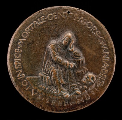 Fra Cesario Seated on a Rock, Contemplating a Skull [reverse]