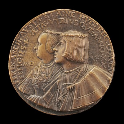 Ferdinand I, 1503-1564, Archduke of Austria 1519, and Anne of Hungary, died 1547, His Wife 1521 [obverse]