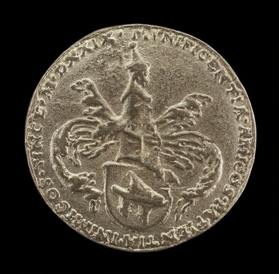 Shield of Arms, Crest and Mantling [reverse]