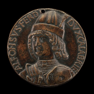 Alfonso II of Aragon, 1448-1495, Duke of Calabria 1458, afterwards King of Naples 1494 [obverse]