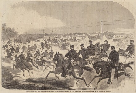 The Union Cavalry and Artillery Starting in Pursuit of the Rebels up the Yorktown Turnpike
