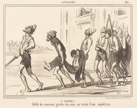 A Naples: Défilé des... gardes-du-corps...
