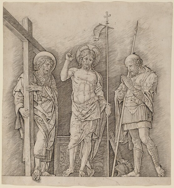 Risen Christ between Saints Andrew and Longinus