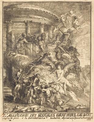 Allegorie des mariages faits par la ville de Paris a la naissance du Duc de Bourgogne