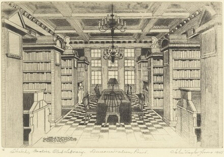 The Grolier Club Library (Sketch)