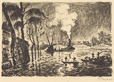 The Flooded Seine in 1910 (La Seine en crue, en 1910)