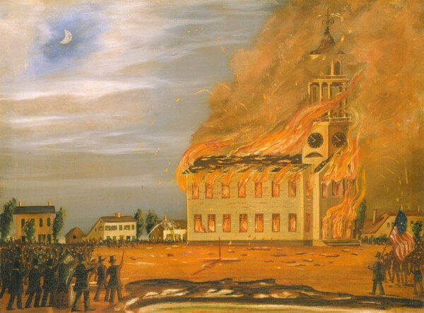Burning of Old South Church, Bath, Maine