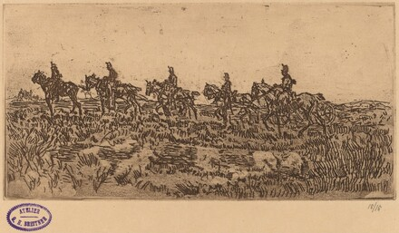 Hussars Riding Single File