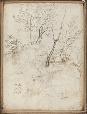 Two Friars on a Hillside [recto]