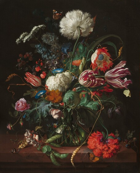 Hand painted oil painting Willem van Dutch Still Life with Hunting Equipment