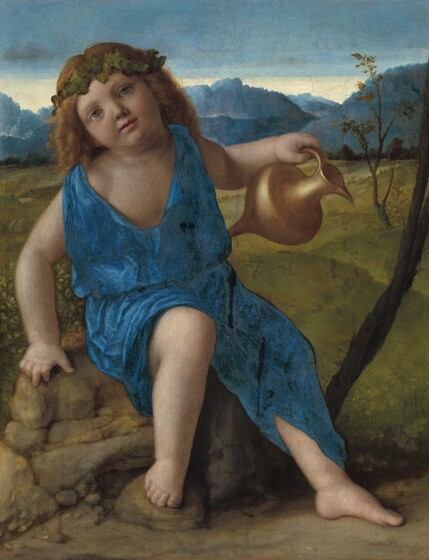 Giovanni Bellini, The Infant Bacchus, probably 1505/1510probably 1505/1510