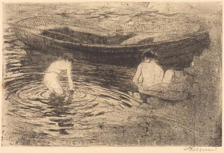 Bathing at Talloires (La baignade à Talloires)