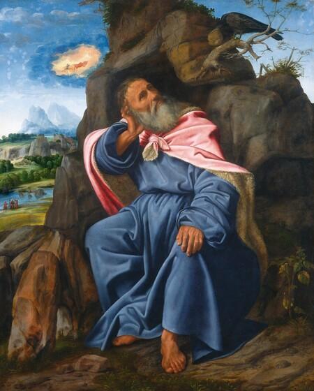 Giovanni Girolamo Savoldo, Elijah Fed by the Raven, c. 1510c. 1510