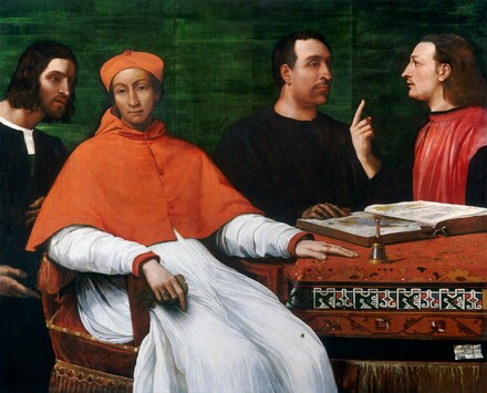 Cardinal Bandinello Sauli, His Secretary, and Two Geographers