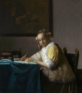 Johannes Vermeer, A Lady Writing, c. 1665