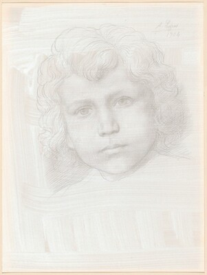 Study of Cupid (Head of a Girl)