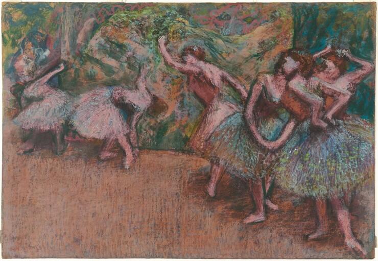 Edgar Degas, Ballet Scene, c. 1907