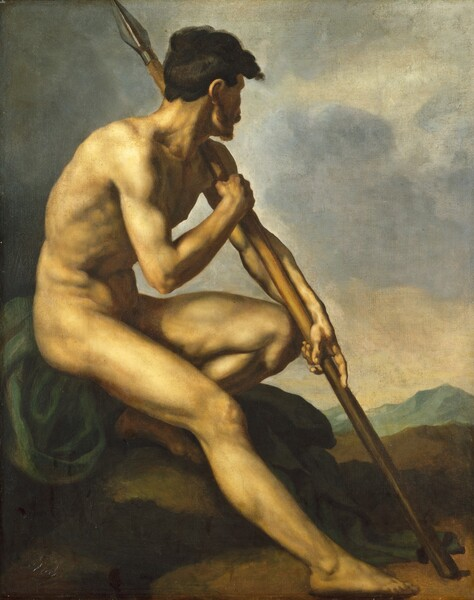 Nude Warrior with a Spear