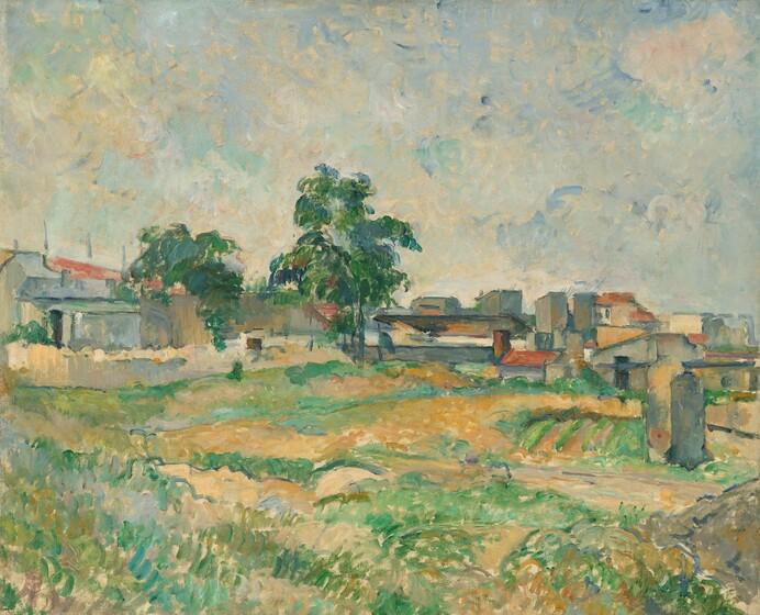 Paul Cézanne, Landscape near Paris, c. 1876