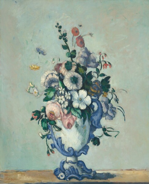 Flowers in a Rococo Vase