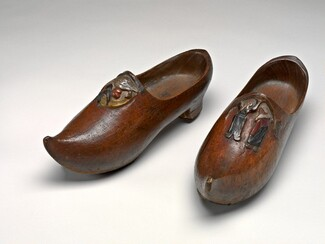 Pair of Wooden Shoes (Sabots) [right]